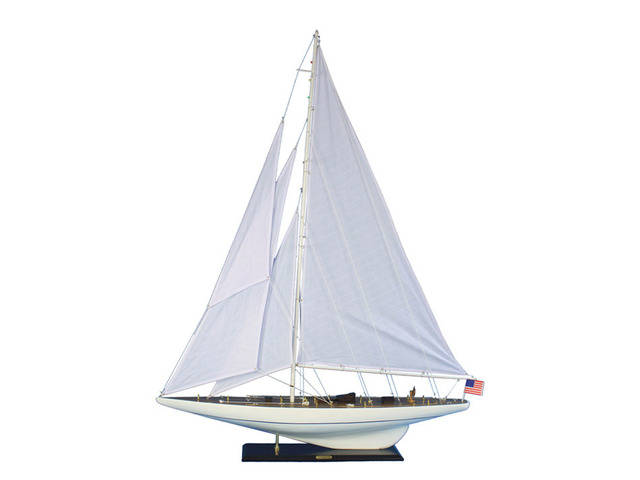 Wooden Intrepid Model Sailboat Decoration 60